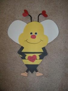 valentine day bee craft (3)