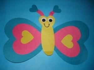 valentine day butterfly craft