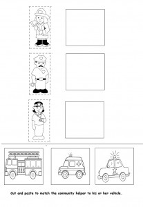 Community Helpers Assessment worksheet