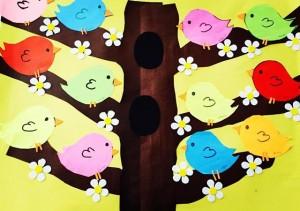 bird bulletin board idea (3)