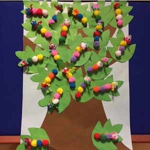 caterpillar bulletin board idea