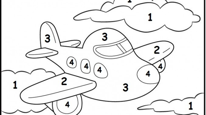 Free Color By Number Worksheets : Transportation worksheet for kids crafts and worksheets