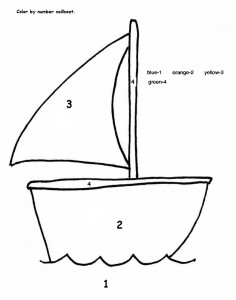 color by number sailboat craft