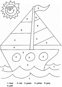 color by number sailboat worksheet