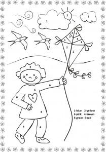 Spring worksheet for kids Crafts