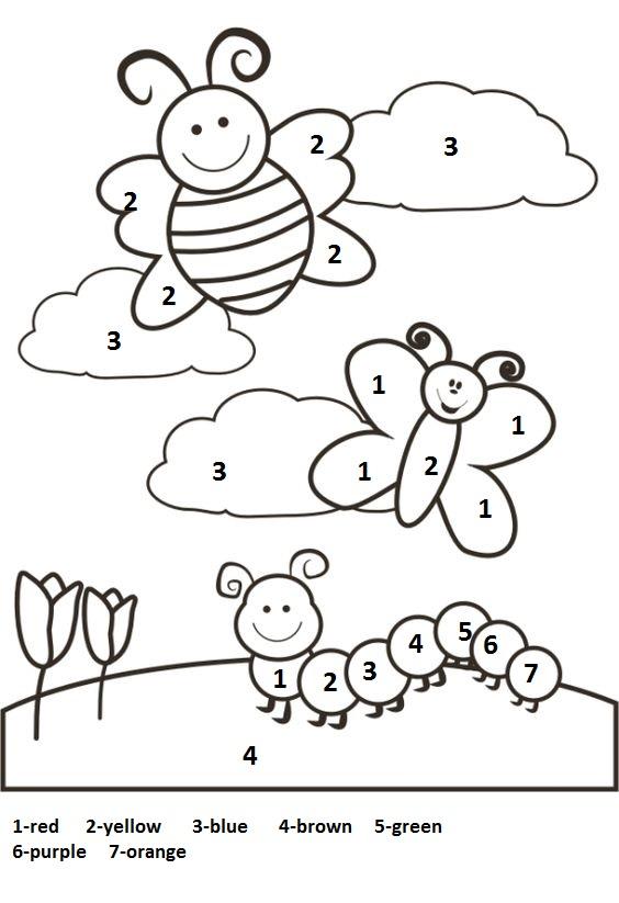 color by number spring worksheet (1)