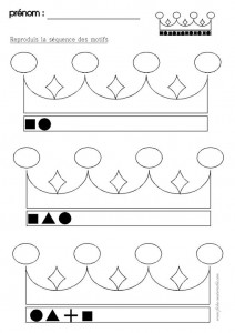crown shape worksheet
