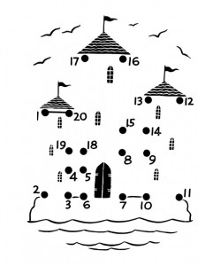 dot to dot castle worksheet for kids