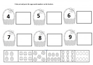 easter egg number worksheet