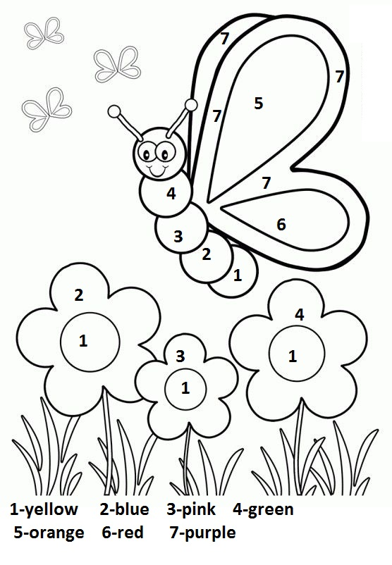 Free Coloring Pages For Preschoolers Spring : Crafts actvities and worksheets for preschool toddler