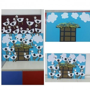 free stork bulletin board idea