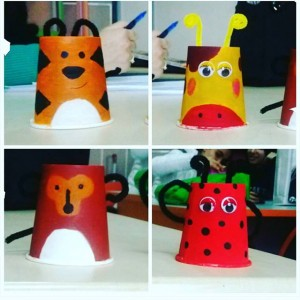 paper cup animals craft