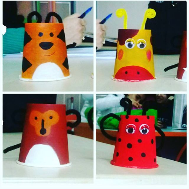 Paper Cup Animals Craft Crafts And Worksheets For