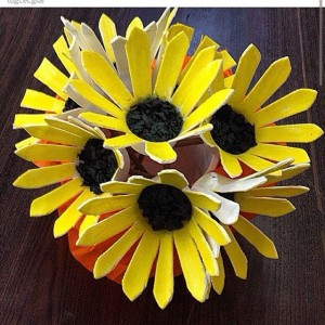 paper cup flower craft idea