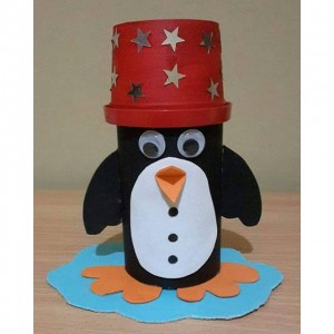 paper cup penguin craft (2)
