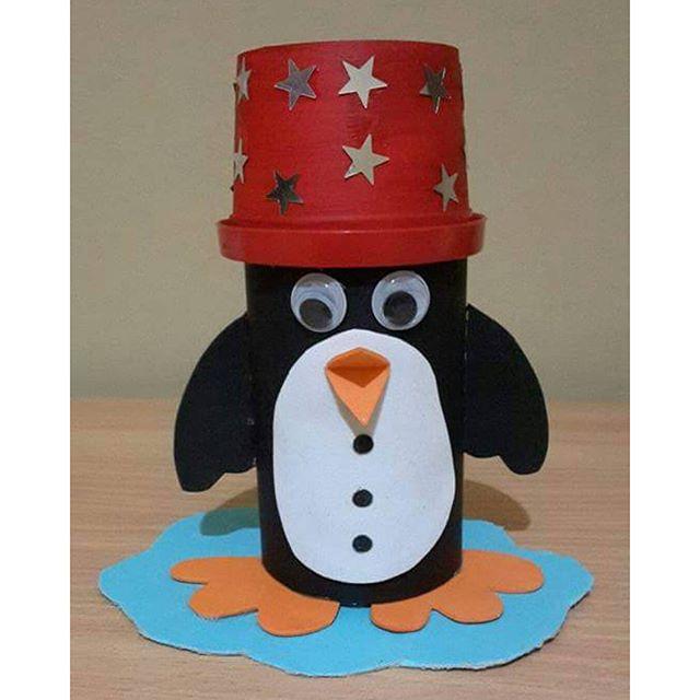 paper cup penguin craft (2)