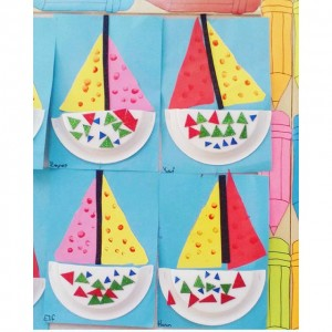 paper plate sailboat craft