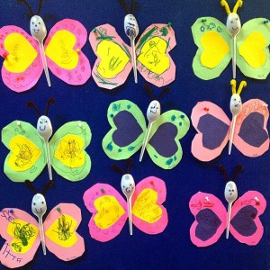 plastic spoon butterfly craft idea