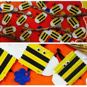 popsicle rtick bee bulletin board