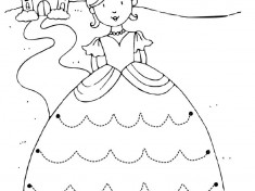 princess trace line worksheet