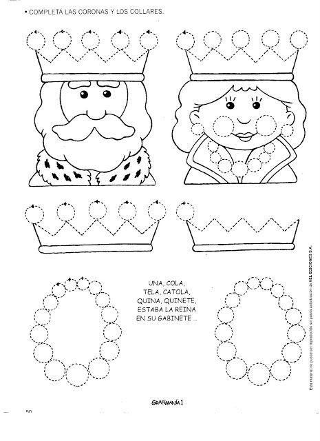 queen trace line worksheet