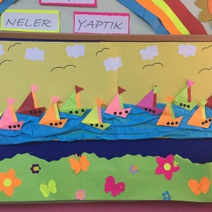 sailboat bulletin board