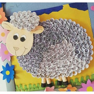 sheep bulletin board idea