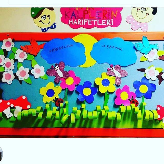 spring bulletin board idea