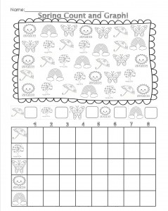 spring count graph worksheet
