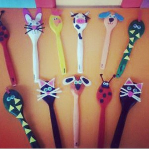 wooden spoon animals craft idea (1)