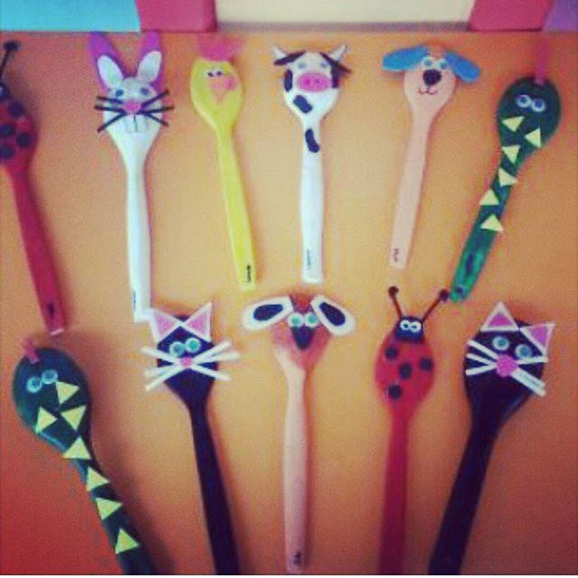 wooden spoon animals craft idea (1)