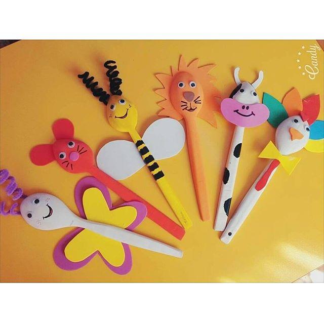 wooden spoon animals craft idea (2)