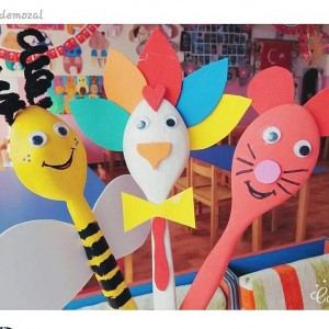 wooden spoon animals craft idea (3)