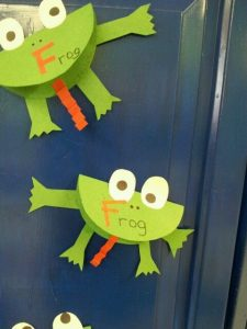 circle frog craft idea