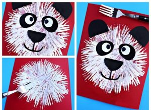 fork stamp panda craft