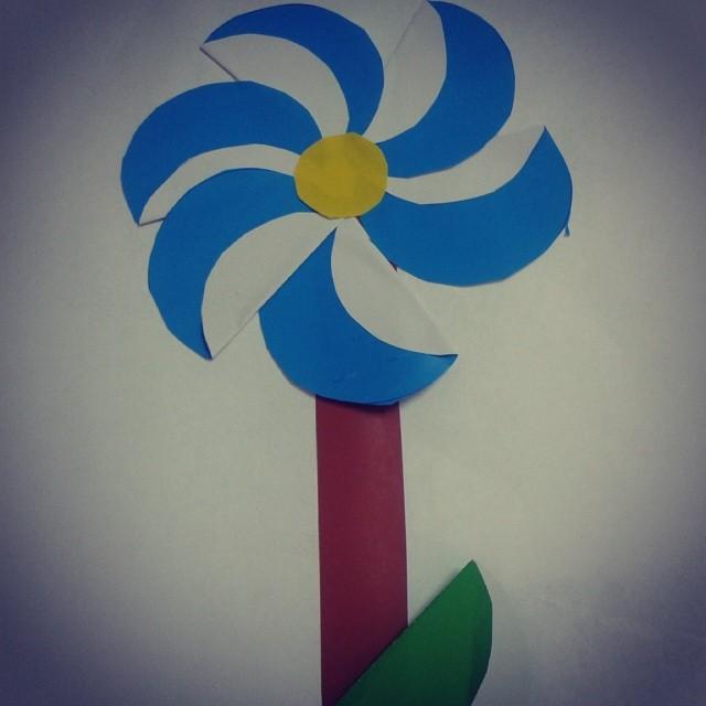 free flower craft idea for kids