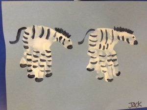 handprint zebra craft idea
