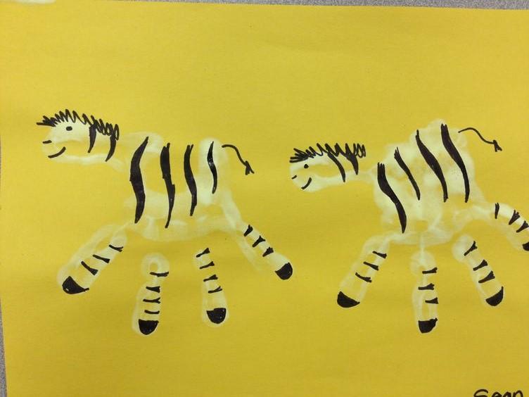 handprint zebra craft