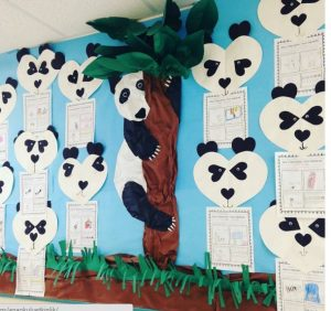panda bulletin board idea for kids