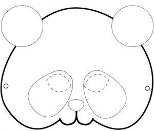 panda mask pattern