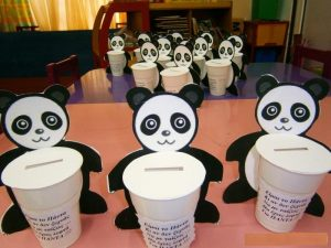 paper cup panda craft idea