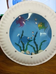 paper plate Aquarium craft (6)