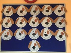 paper plate dog craft