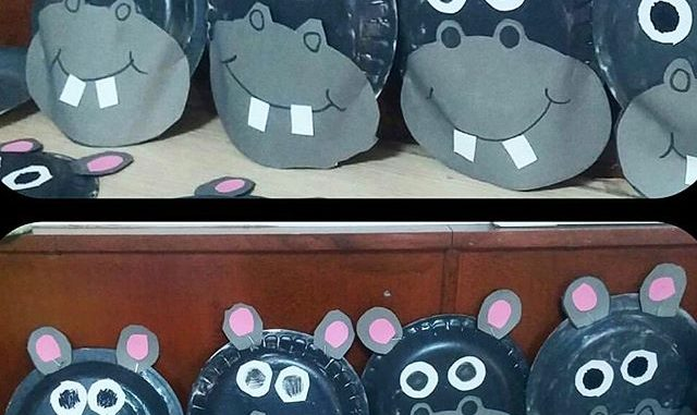Hippo craft idea for kids Crafts
