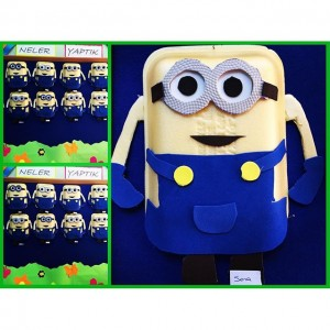 paper plate minions craft