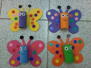 toilet paper roll butterfly craft (2)