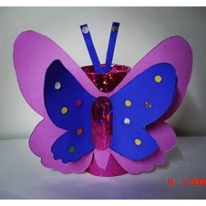 toilet paper roll butterfly craft idea for kids (1)