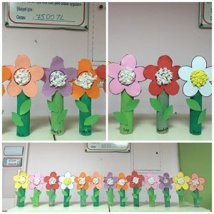 toilet paper roll flower craft
