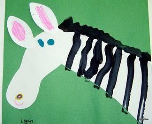 zebra craft idea for kids