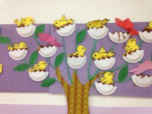 free bird bulletin board idea for kids